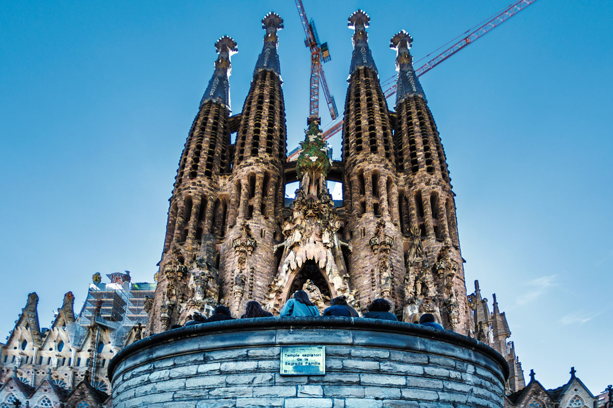 Geburtsfassade der Sagrada Familia