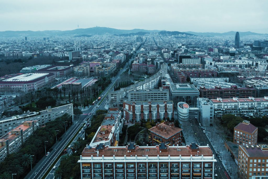 Ausblick über Barcelona vom deutschen Generalkonsulat