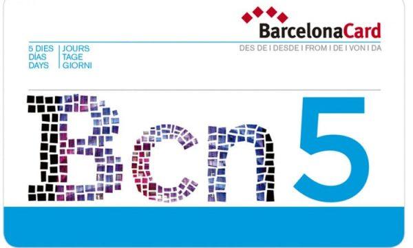 Die Barcelona Card für fünf Tage.