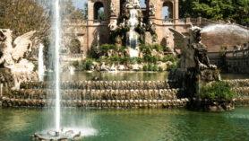 Der monumentale Brunnen im Park Ciutadella in Barcelona.