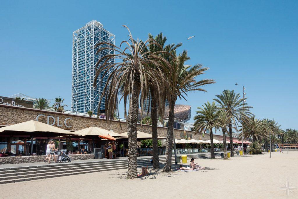 Restaurants an der Strandpromenade.