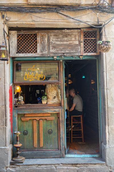 Eingang der Tapas Bar.