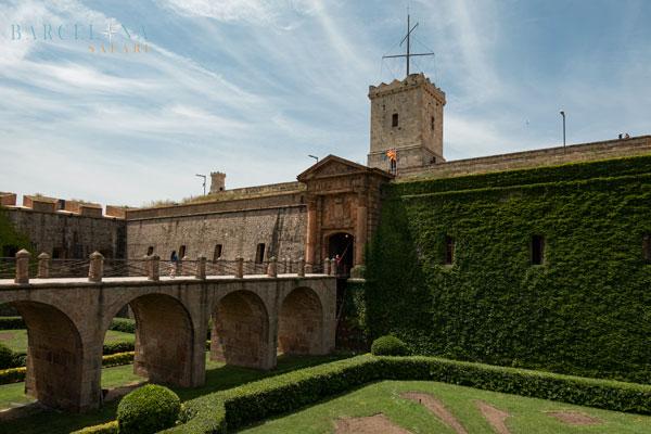 Die Burg auf der Spitze des Montjuïc.