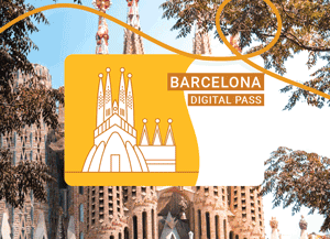 Der neue Barcelona City Pass mit der Sagrada Familia abgebildet.